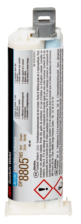 3M™ Scotch-Weld™ 2-Komponenten-Konstruktionsklebstoff auf Acrylatbasis für das EPX System DP 8805 NS, Grün, 45 ml