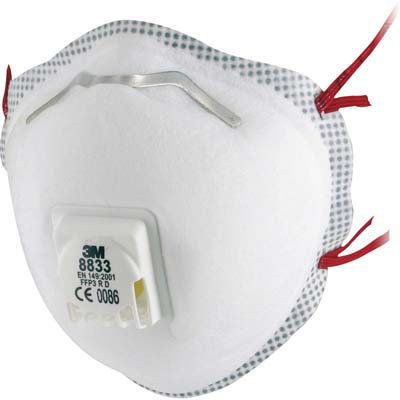 3M Atemschutzmaske 8833SV FFP3