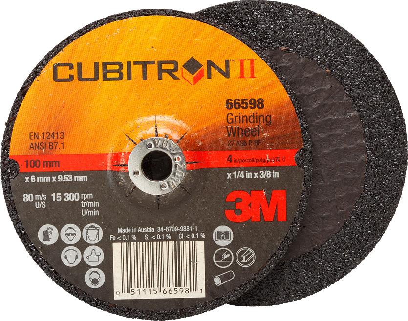 3M™ Cubitron™ II Schruppscheibe 2. Generation, 115 mm, 7,0 mm, 22,23 mm, 36+, Typ 27