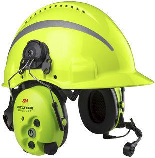 3M™ PELTOR™ WS™ ProTac XP Hi Visibility Headset, Helmbefestigung