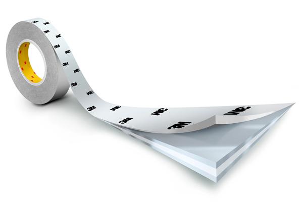 3M™ Doppelseitiges Klebeband mit Papiervlies-Träger 9086, Weiß, Rolle a 50m