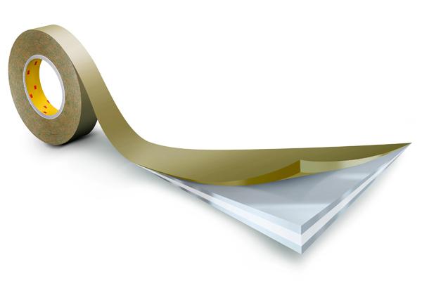 3M™ Doppelseitiges Klebeband mit Papiervlies-Träger 983XL, Weiß, Rolle a 50m