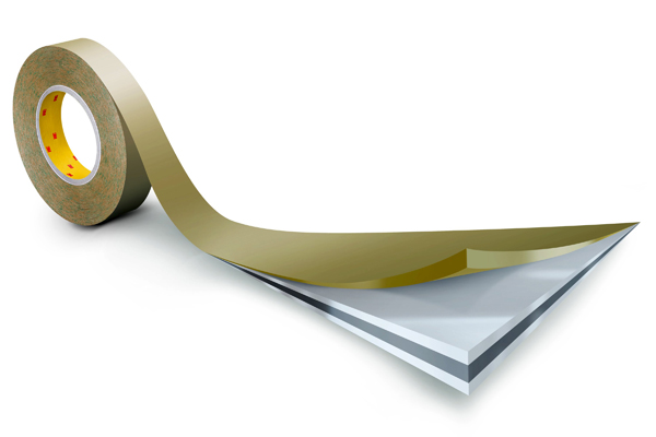 3M™ Doppelseitiges Klebeband 415 mit Polyester-Träger , Transparent, Rolle a 33m