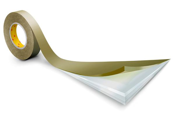 3M™ Doppelseitiges Klebeband mit Polyester-Träger 9629PC, Transparent, 19 mm x 55 m, 0,1 mm