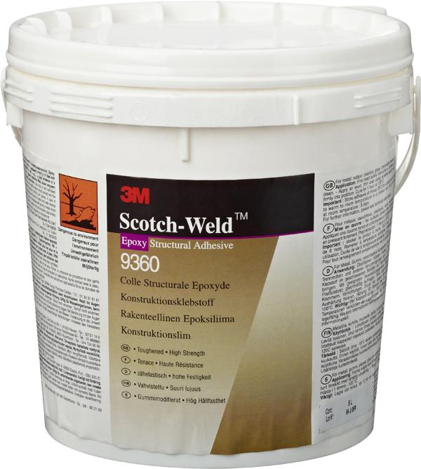 3M™ Scotch-Weld™ 1-Komponenten-Konstruktionsklebstoff auf Epoxidharzbasis 9360, Gelb, 5 l