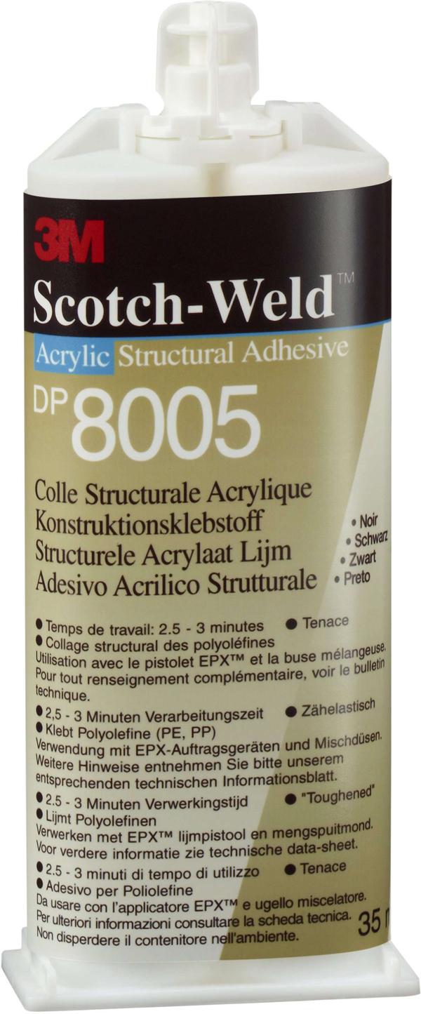 3M™ Scotch-Weld™ 2-Komponenten-Konstruktionsklebstoff auf Acrylatbasis für das EPX System DP 8005, Transluzent