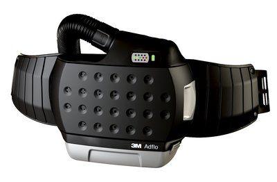 Adflo Filtergebläse mit Luftschlauch QRS, Adapter (53 35 06), Luftmengenmesser, Vorfilter, Funkensperre, Partikelfilter, Gürtel, Ladegerät und Hochleistungsakku