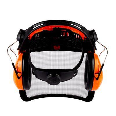 3M G500 Kopfschutz-Kombination G5V5CH51, Orange mit H510P3E Kapseln, Visier 5C-1 Edelstahl