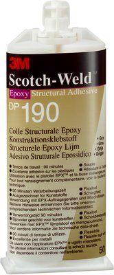3M™ Scotch-Weld™ 2-Komponenten-Konstruktionsklebstoff auf Epoxidharzbasis für das EPX System DP 190, Grau, 400 ml