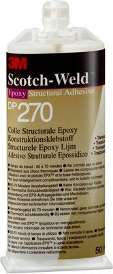 3M™ Scotch-Weld™ 2-Komponenten-Konstruktionsklebstoff auf Epoxidharzbasis für das EPX System DP 270, Schwarz, 50 ml