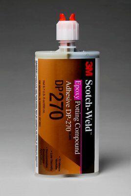 3M™ Scotch-Weld™ 2-Komponenten-Konstruktionsklebstoff auf Epoxidharzbasis für das EPX System DP 270, Schwarz, 400 ml