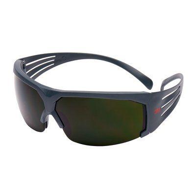 3M SecureFit Schutzbrille mit grauem Rahmen, Antikratz-Beschichtung, Schweißglas mit Schutzstufe 5.0, SF650AS-EU