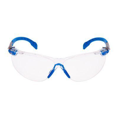 3M Solus Schutzbrille, Rahmen blau/schwarz, Scotchgard Antibeschlag-Beschichtung, klare Gläser, S1101SGAF-EU