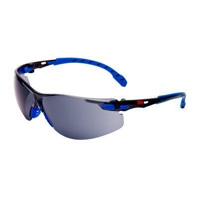 3M Solus Schutzbrille mit blauem/schwarzem Rahmen, Scotchgard Antibeschlag-Beschichtung, grauen Gläsern, S1102SGAF-EU