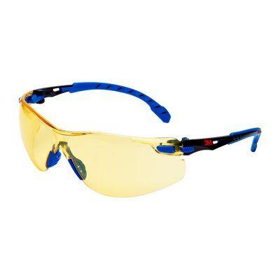 3M Solus Schutzbrille mit blauem/schwarzem Rahmen, Scotchgard Antibeschlag-Beschichtung, bernsteingelben Gläsern, S1103SGAF-EU