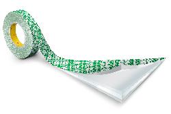 3M™ Doppelseitiges Klebeband mit Papiervlies-Träger 410M, Weiß, Rolle a 33m