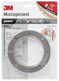 3M™ Montageband Power, Grau, 19 mm x 5 m, 0,8 mm