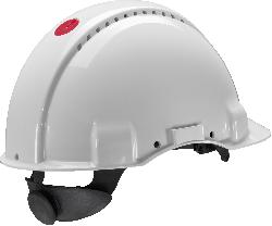 3M™ G3001 Schutzhelm unbelüftet, mit Uvicator, Ratsche und Kunststoffschweißband