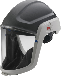 3M™ M-307 Helmkopfteil mit Gesichtsabdichtung (schwer entflammbar) und Polycarbonat Visier klar