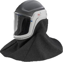 3M™ M-407 Schutzhelm mit Hals- und Schulterabdeckung und Polycarbonat-Visier klar, schwer entflammbar