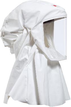3M™ S533 Einweg Leichthaube (weiss) in Größe S mit Hals-/Schulterabdeckung, Material: Ventflex