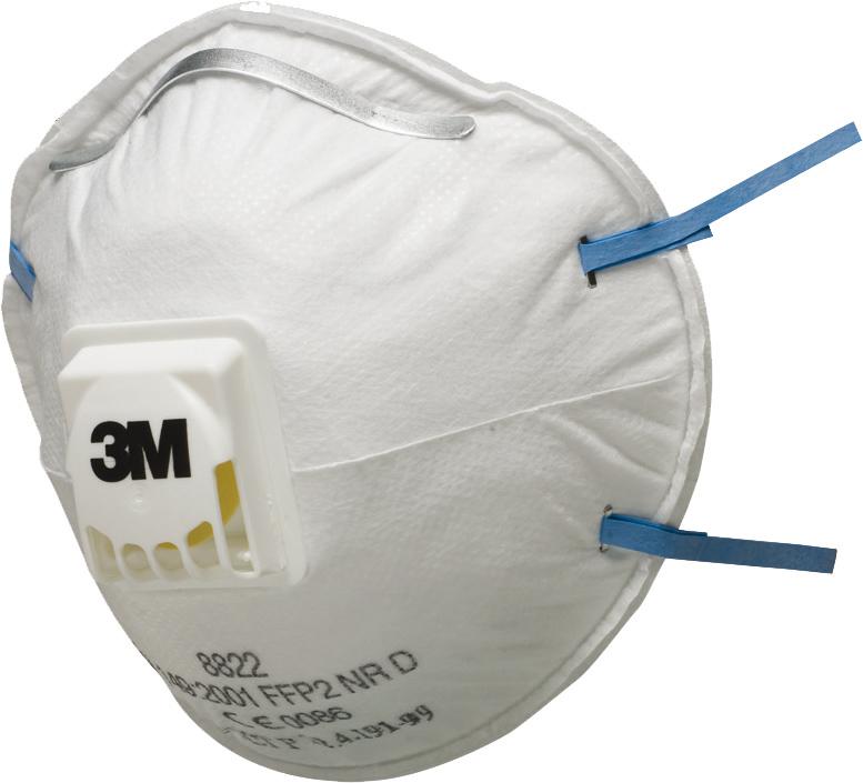 3M™ Atemschutzmaske 8822 FFP2 NR D