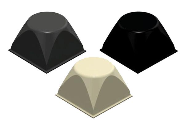 3M Bumpon SJ5514 Elastikpuffer, 20,6 x 13,1 mm, Klebstoff Natur-Kautschuk R-30, (1.000 Stück)