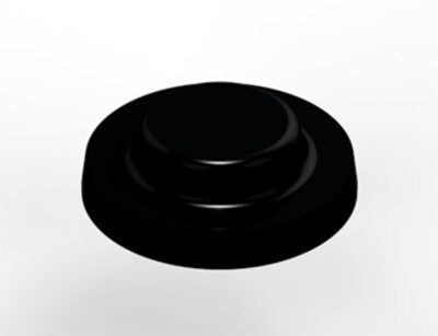 3M Bumpon SJ6115 Elastikpuffer, Schwarz, 15,9 x 4,75 mm, Klebstoff Synthetischer Kautschuk R-25, (2.600 Stück)