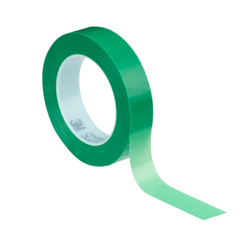 3M Hochtemperatur Polyester Klebeband 851, Grün, Rolle a 66m