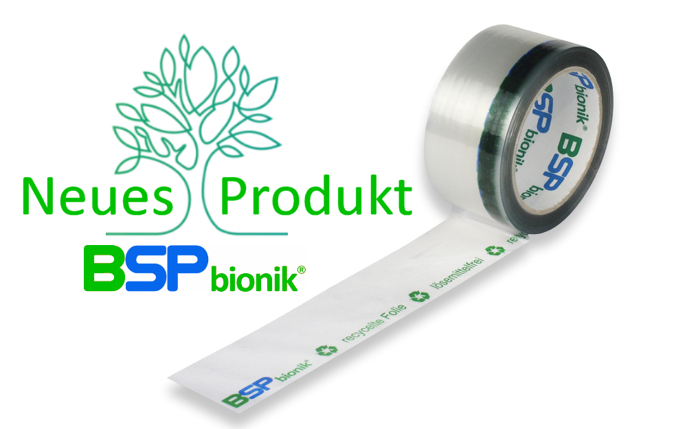 BSP bionik Nr. 140 Folien-Verpackungsklebeband, 50 mm x 66 m