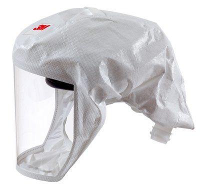 3M S433 Einweg Leichthaube (weiss) in Größe L mit Hals-/Schulterabdeckung Material: Web 24