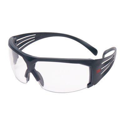 3M SecureFit Schutzbrille mit grauem Rahmen, Schaumrahmen, Scotchgard Anti-Fog-Beschichtung, klar, SF601SGAF/FI-EU