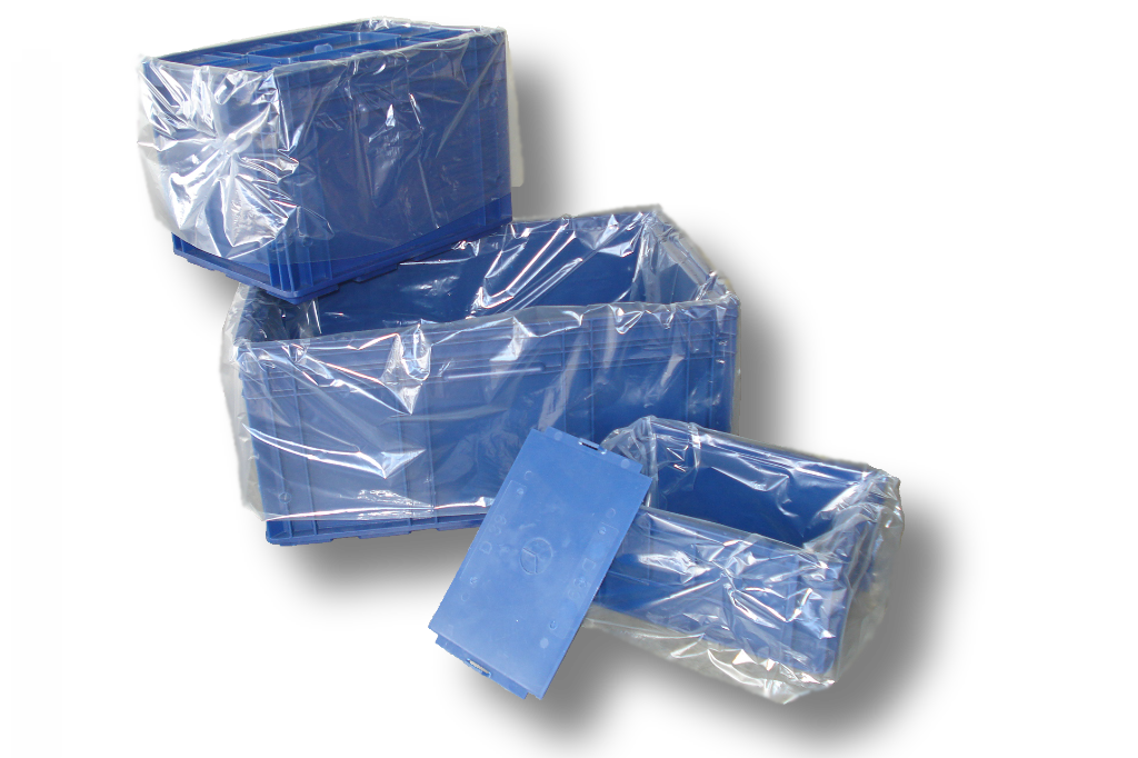 LDPE-Seitenfaltensack 1250 + 850 x 2100mm, 100my, transluzent, Regenerat