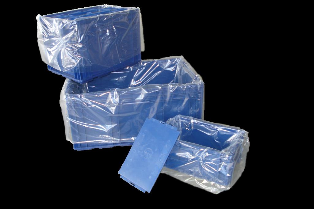 LDPE-Seitenfaltensack 350 + 150 x 1100mm, 70my, transparent unbedruckt, PE-Zeichen
