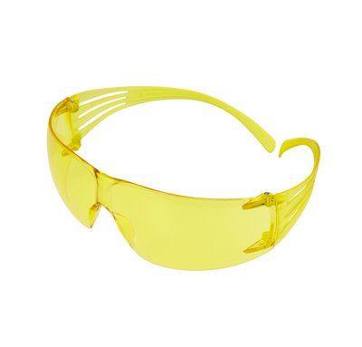 3M SecureFit Schutzbrille mit Antikratz-/Antibeschlag-Beschichtung, bernsteingelben Gläsern, SF203AS/AF-EU