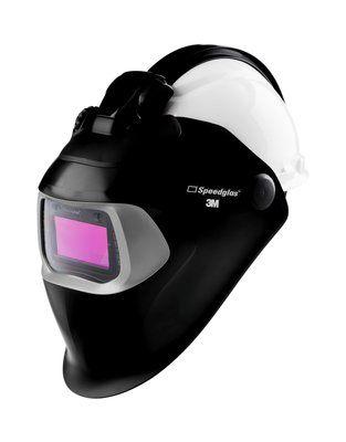 3M Speedglas Schweißmaske 100-QR mit Schiene, mit 100V ADF, mit 3M Arbeitsschutzhelm H-701