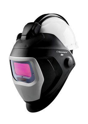 3M Speedglas 9100-QR Schweißmaske mit 9100X ADF und 3M Arbeitsschutzhelm H-701