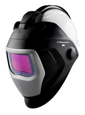3M Speedglas 9100-QR Schweißmaske mit 9100XX ADF und 3M Arbeitsschutzhelm H-701