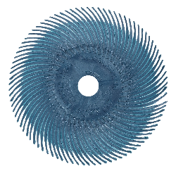 Scotch-Brite™ Radial Bristle Disc RB-ZB, grün, 76,2 mm, 1 Micron, Typ C