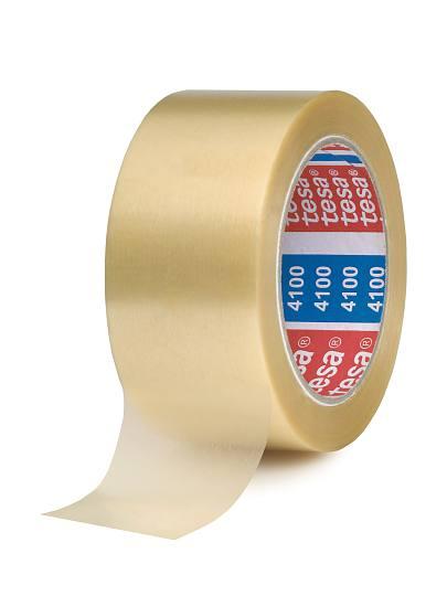 tesapack 4124 PVC-Verpackungsklebeband, transparent, Langrollen