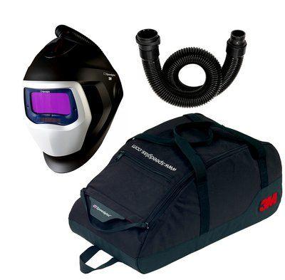 3M Speedglas Schweißmaske 9100 Air mit 9100X ADF, inkl. Luftschlauch und Aufbewahrungstasche