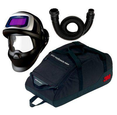 3M Speedglas Schweißmaske 9100 FX Air mit 9100V ADF, inkl. Luftschlauch und Aufbewahrungstasche