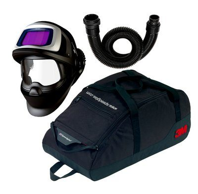3M Speedglas Schweißmaske 9100 FX Air mit 9100XXi ADF, inkl. Luftschlauch und Aufbewahrungstasche (Einstellung Schleifvisier nicht möglich)