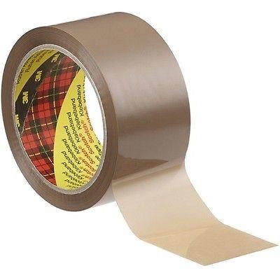 Scotch® Verpackungsklebeband 371, Braun, 75 mm x 990 m, 0,048 mm